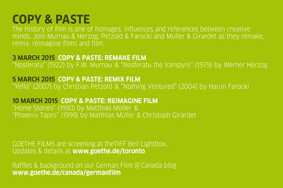 Goethe films march copy paste from murnau to m ller for In this house copy and paste